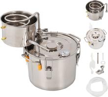 vidaXL Destillator vatten/alkohol/hembränt rostfritt stål 8 L