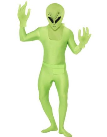 Alien Man Luksuskostyme med Maske & Hansker