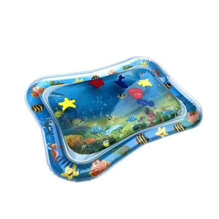 Inflatable Baby Water Mat Infant Tummy Time Playmat Toddler Fun Activity Play Center for sensory stimulation, motor skills /yh