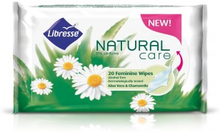 Libresse Natural Care Feminine Alcohol Free Wipes 20 stk