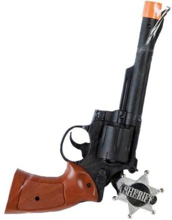 Pistol med Sheriffstjärna Maskeradtillbehör