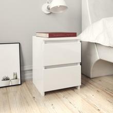 vidaXL Sängbord vit högglans 30x30x40 cm spånskiva