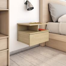 vidaXL Svävande sängbord sonoma-ek 40x31x27 cm spånskiva