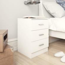 vidaXL Sängbord vit 38x35x56 cm spånskiva