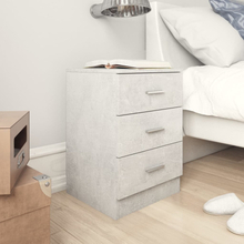 vidaXL Sängbord betonggrå 38x35x56 cm spånskiva