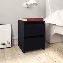 vidaXL Sängbord svart 30x30x40 cm spånskiva