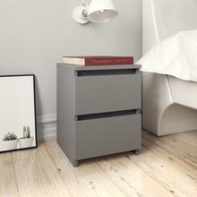 vidaXL Sängbord 2 st grå 30x30x40 cm spånskiva