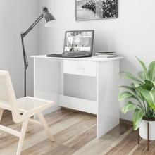 vidaXL skrivebord 100 x 50 x 76 cm spånplade hvid højglans