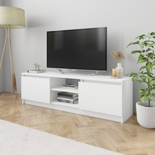 vidaXL TV-taso valkoinen 120x30x35,5 cm lastulevy
