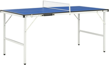 vidaXL bordtennisbord med net 152 x 76 x 66 cm blå