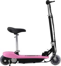 vidaXL Elektrisk sparkcykel med sadel 120 W rosa