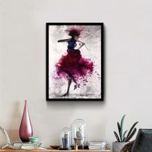 Mode Mädchen minimalistische abstrakte Kunst Leinwand Poster Malerei modernen Dekor