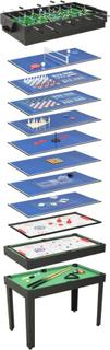 vidaXL 15-i-1 multi-spillebord 121 x 61 x 82 cm sort