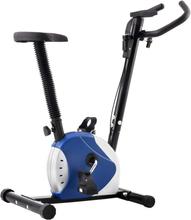 vidaXL Träningscykel remdrift blå