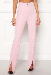 BUBBLEROOM Carolina Gynning Slitted trouser Light pink 38