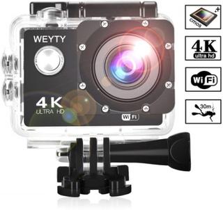 Actionkamera / sportkamera 4k wifi vattentät med tillbehör