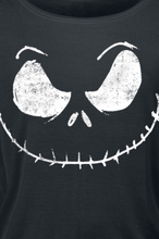 The Nightmare Before Christmas - Jack Skellington - Face -Langermet skjorte - svart