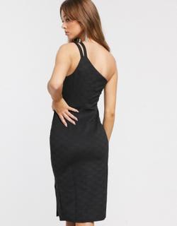 River Island jacquard bodycon dress in black