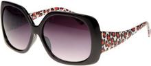 Chicago - Svarta Solglasögon med Geopard Print Inspirerat av DKNY