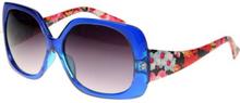 Chicago - Blå Solglasögon med Blommigt Print Inspirerat av DKNY