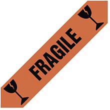PVC Warnband mit Standardaufdruck ''Fragile'' für zerbrechliche Ware