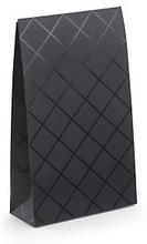 Geschenktaschen - Schwarz mit Karos 140 x 230 mm