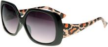 Chicago - Svarta Solglasögon med Leopard Print Inspirerat av DKNY