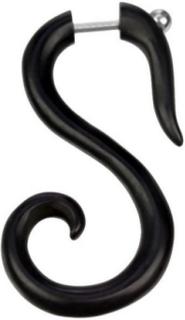 Swan - Svart Fake Piercing
