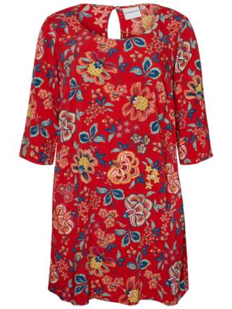 JUNAROSE Flower Printed Dress Women Red