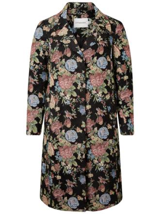 JUNAROSE Flowered Jacket Women Black