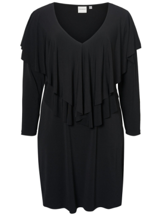JUNAROSE Flounce Dress Women Black
