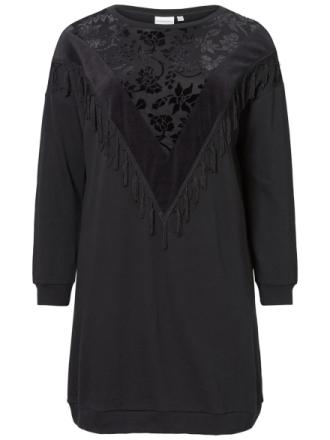 JUNAROSE Embroidered Dress Women Black