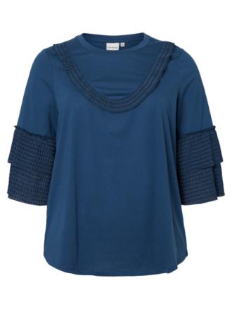 JUNAROSE 3/4 Sleeved Blouse Women Blue