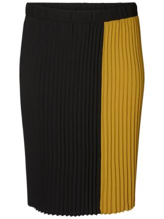 JUNAROSE Midi Plissé Skirt Women Black