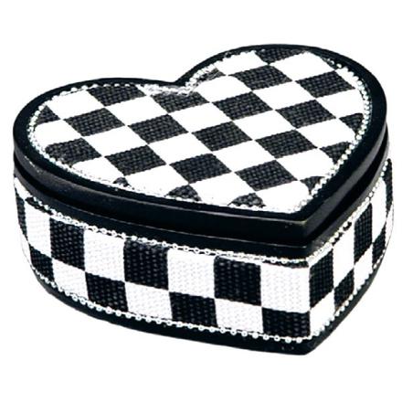 Checker Heart - 8 cm Smykkeskrin