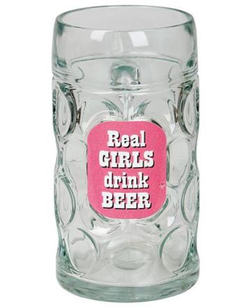 Real Girls Drink Beer - Gigantisk Seidel