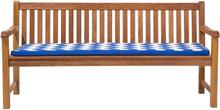 Pehmuste puutarhapenkkiin sinisellä kuviolla TOSCANA/JAVA