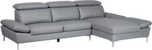 Sohva nahkainen harmaa FARILA