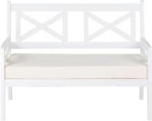 Puutarhapenkki valkoinen 120 cm BALTIC