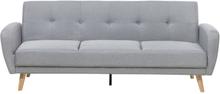 3-istuttava sohva vaaleanharmaa FLORLI