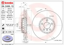 Bremseskive BREMBO 09.C406.13