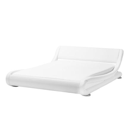 Keinonahkainen sänky mattavalkoinen 180x200 cm AVIGNON