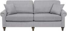 3-istuttava sohva kankainen vaaleanharmaa OTRA