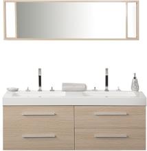 Kylpyhuoneen allaskaapisto beige MALAGA