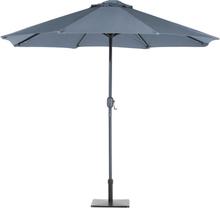 Aurinkovarjo LED-valoilla ø 266 cm - antrasiitinharmaa RAPALLO