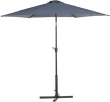 Metallinen aurinkovarjo tummanharmaa VARESE