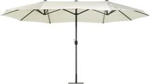 Jättikokoinen aurinkovarjo tuplavarjolla 460 cm beige SIBILLA