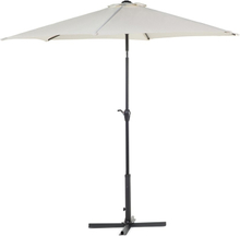 Metallinen aurinkovarjo vaaleanbeige VARESE