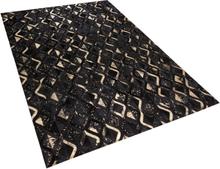 Musta/kultainen nahkamatto 140x200 cm DEVELI