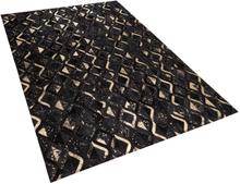 Musta/kultainen nahkamatto 160x230 cm DEVELI